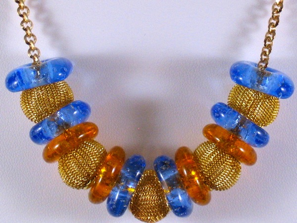 Amber and Blue Nano Necklace