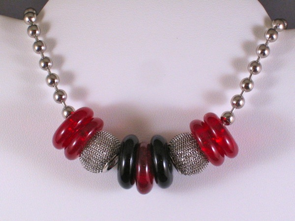 Red and Black Nano Necklace