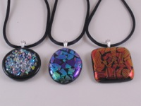 Dichroic Frit and Shard Pendants