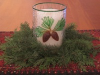 Pine Cone Candle Chimney