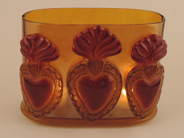 Flaming Heart Votive