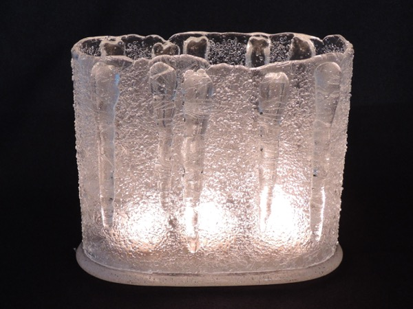 Oval Votive w/ Icicles