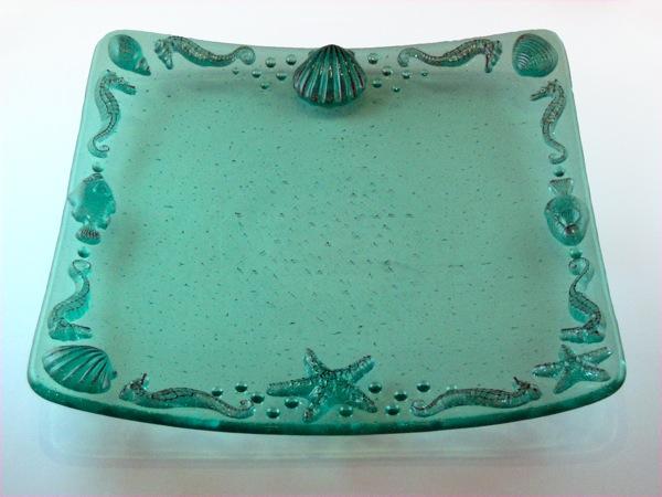 Green Beach Shell Plate
