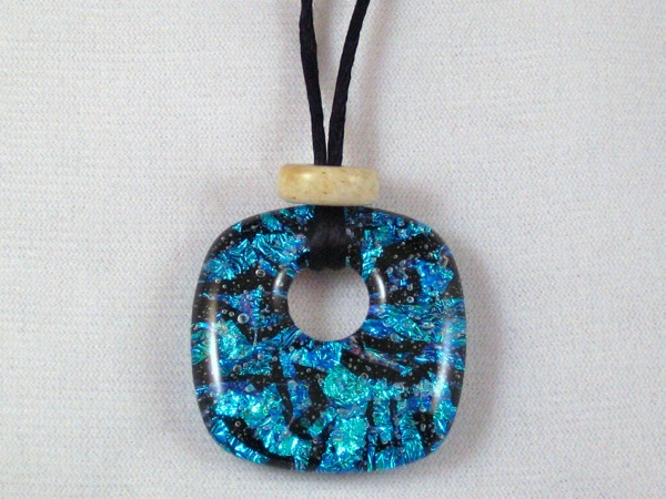 Blue Pillow Pendant