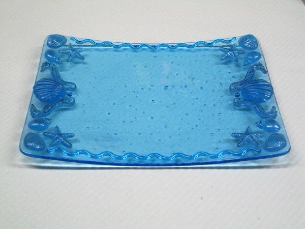 Blue Sea Life Plate