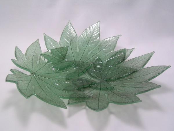 Green Aralia Leaf Platter