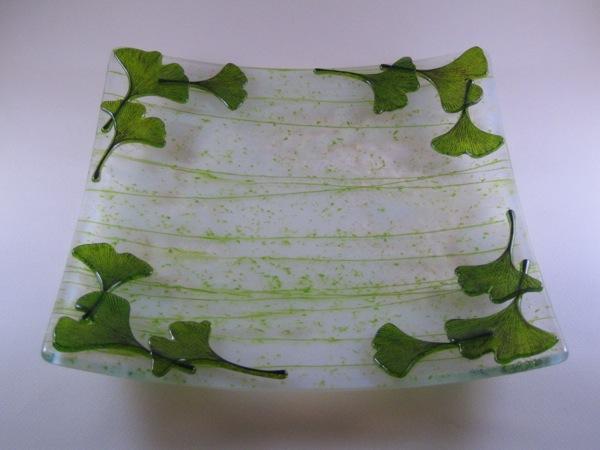 Green Ginkgo Plate