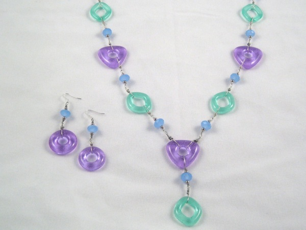 Green and Lavender Necklace