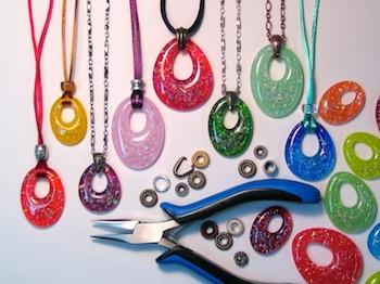 Colour de Verre Offset Square Pendants Glass Casting Fusing Jewelry Mold