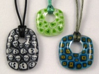 Millefiori and Murrini Pendants