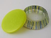 Large Round Box w/ Art Glass