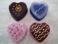 Four Sweet Heart Boxes