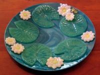 Lotus and Lily Pad Platter