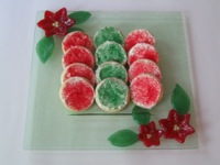 Holiday Poinsettia Plate